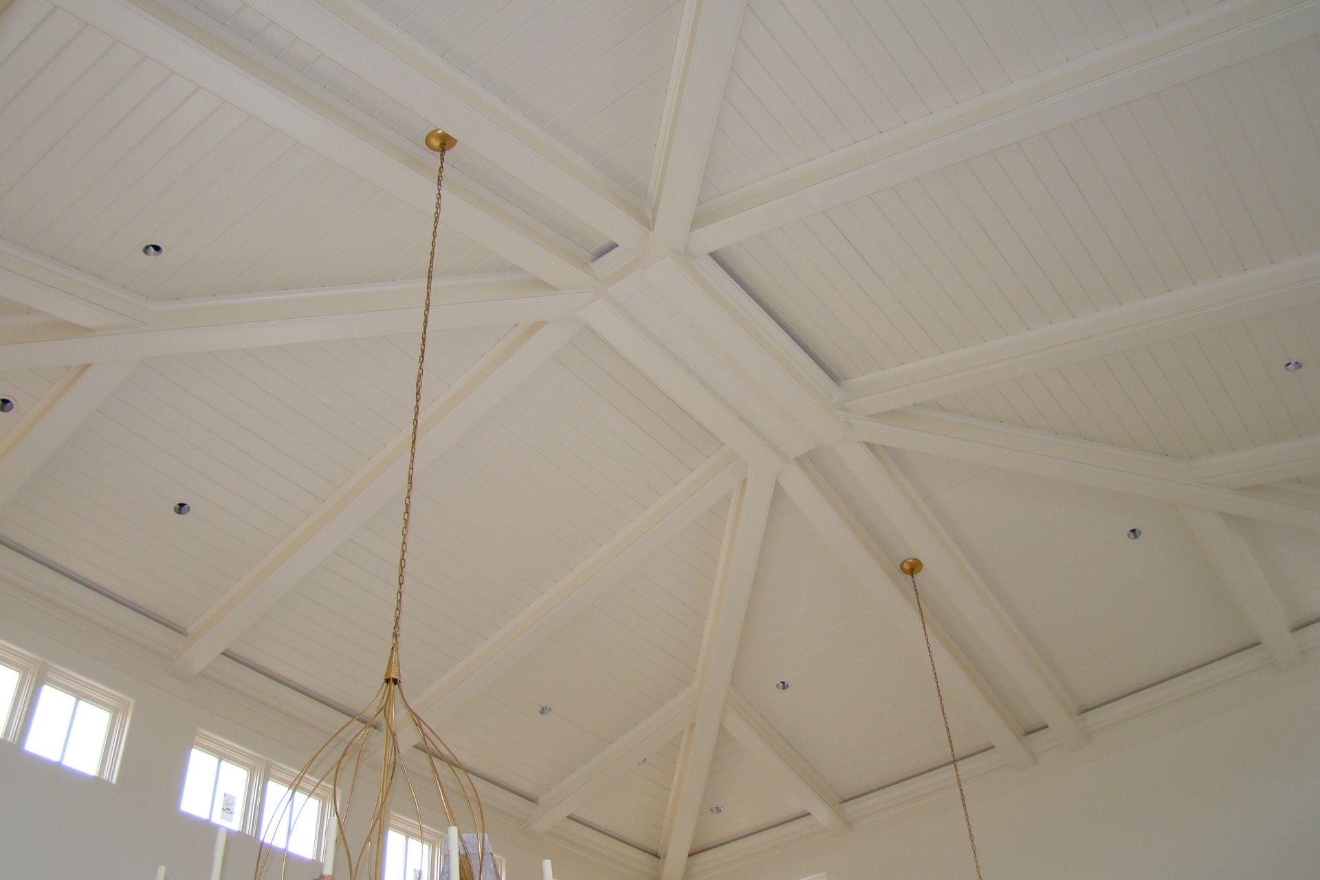 wood beams white